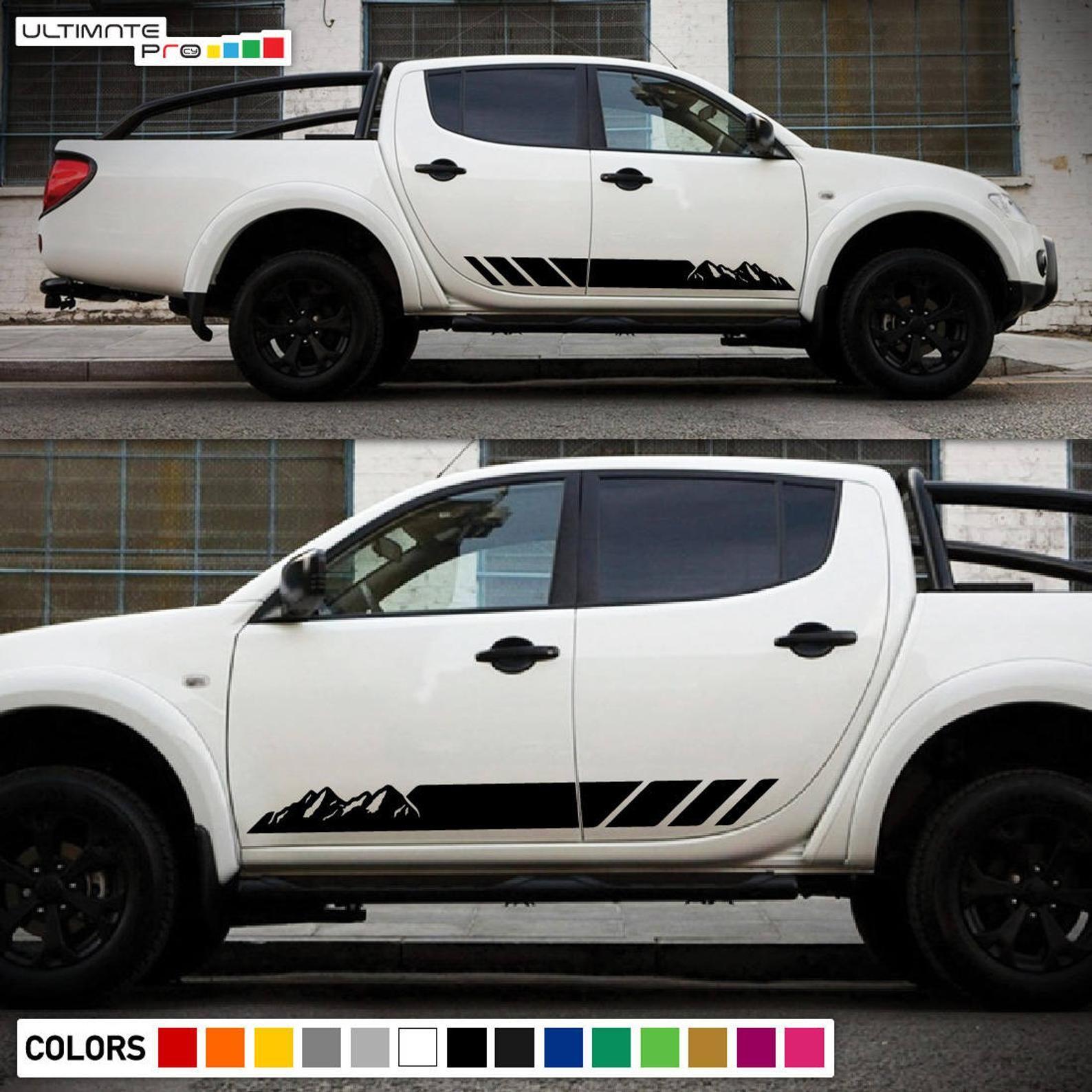 2x Decal Sticker Side Stripes Compatible With Mitsubishi L200 Etsy In 2020 Car Stripe Kit Mitsubishi