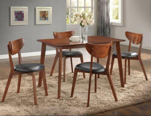 Best Wood Dining Table Set Mid Century Modern Danish Brown 5 400 x 300