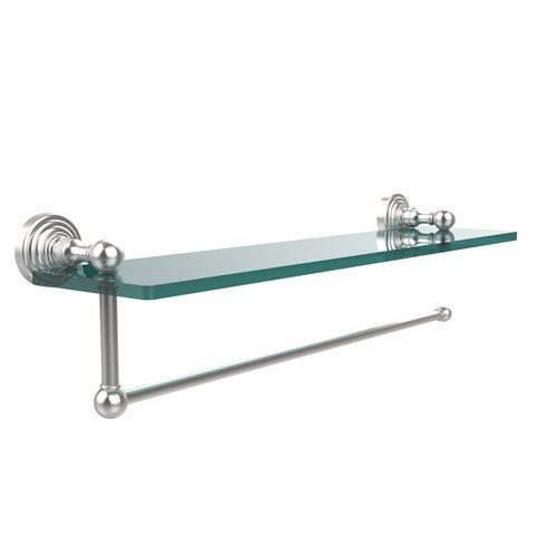 Waverly Place Collection Paper Towel Holder with 22 Inch Glass Shelf, Satin Chrome - (In No Image Available)