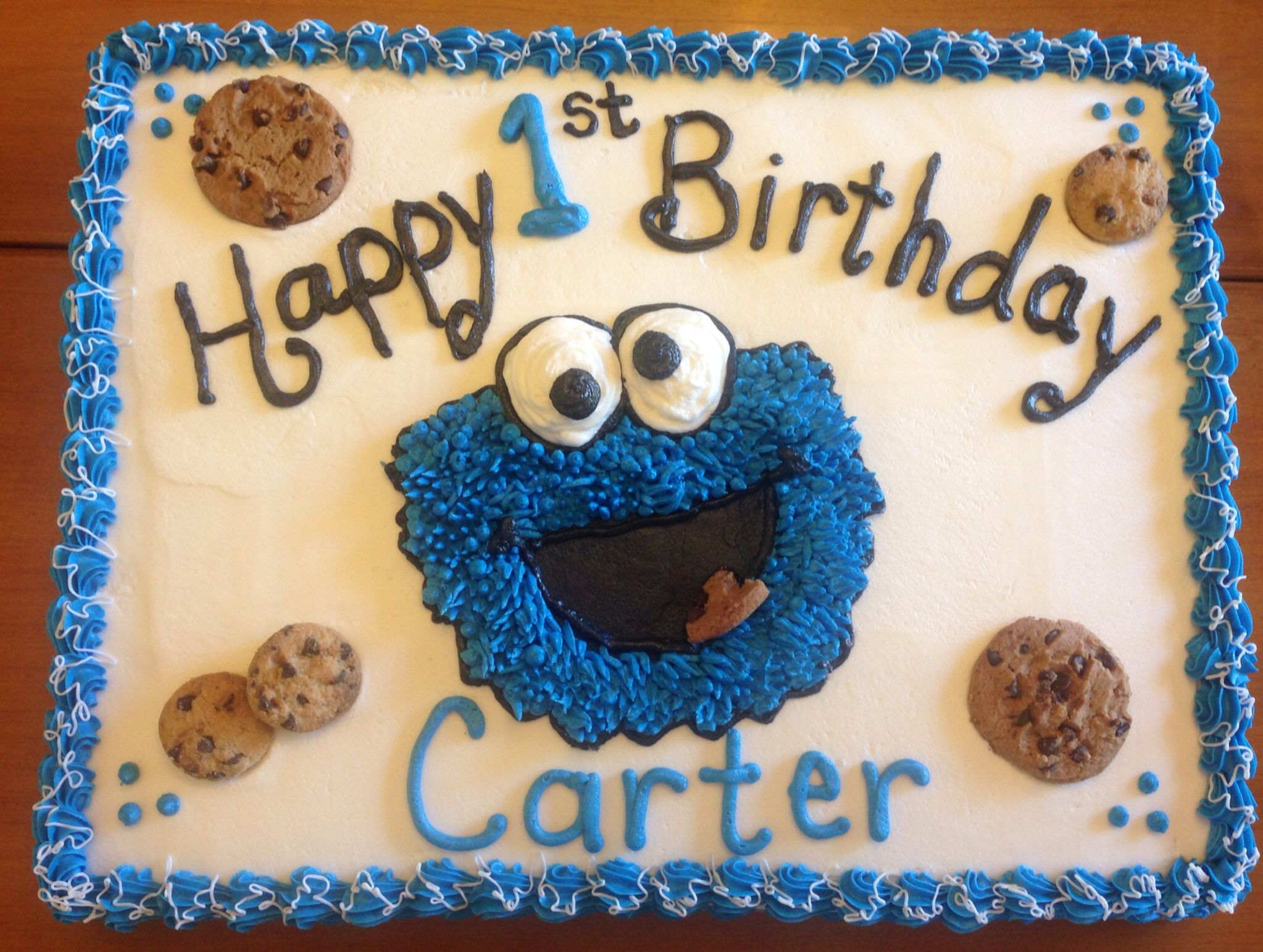 Cookie Monster With Images Monster 1st Birthdays Cookie