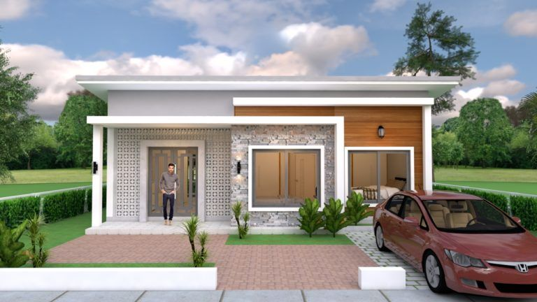House Plans 10x8 With 2 Bedrooms Shed Roof House Plans 3d Simple House Design House Roof Architect Design House