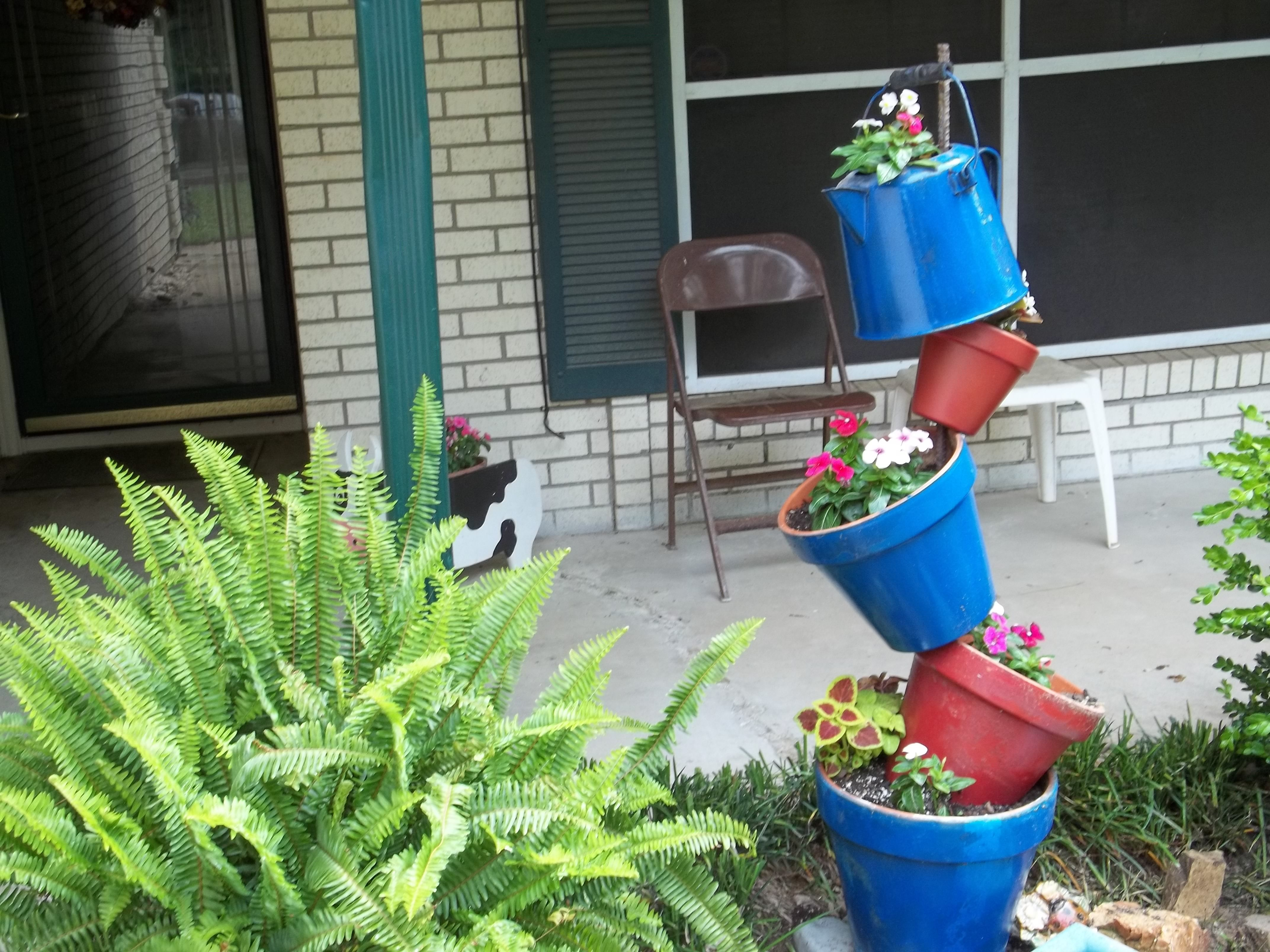 Coffee Pot Planter Redone Planter With Old Coffee Pot On Top Loving