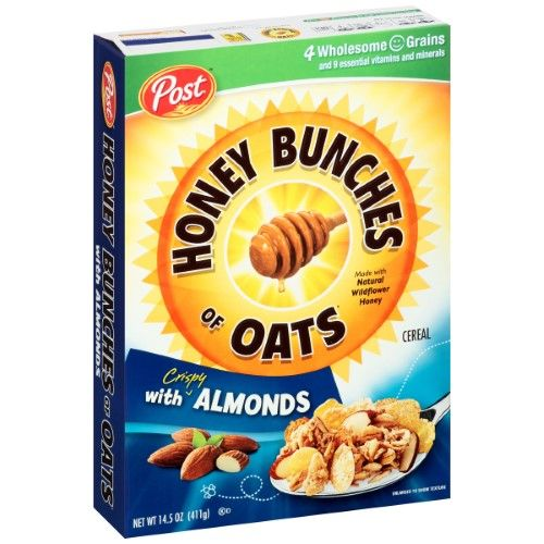 Post Honey Bunches Of Oats Cereal, Crispy Almonds, 14.5 Oz