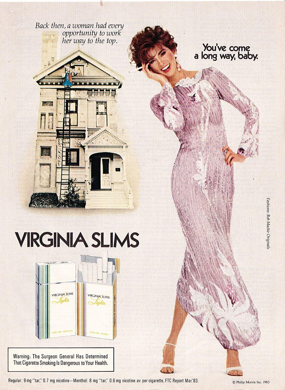 Pin On Virginia Slims Ads: Virginia Slims Advertisement,©Phillip Morris, Inc 1983
