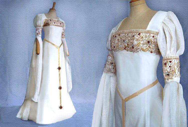 Elfen Brautkleid CALEYA Mittelalter Renaissance Galadriel