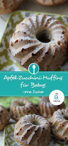 Apfel Zucchini Muffins Fur Babys Ohne Zucker Kochen Fur Baby Lecker Zucchini Muffins
