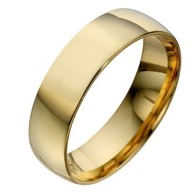 22ct Yellow Gold 6mm Extra Heavyweight Court Wedding Ring