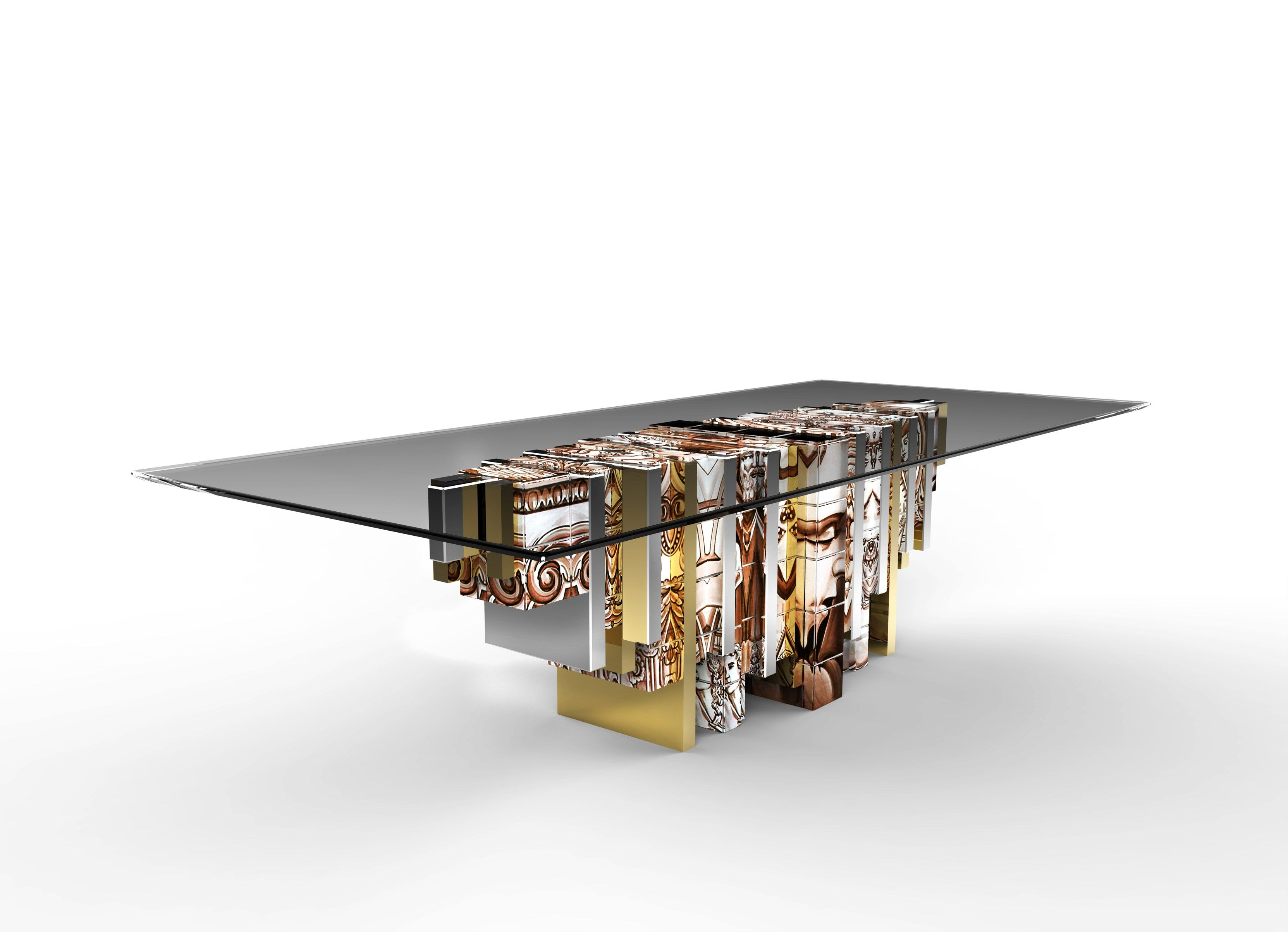 Heritage dining table exclusive furniture high gloss for Exclusive dining table designs