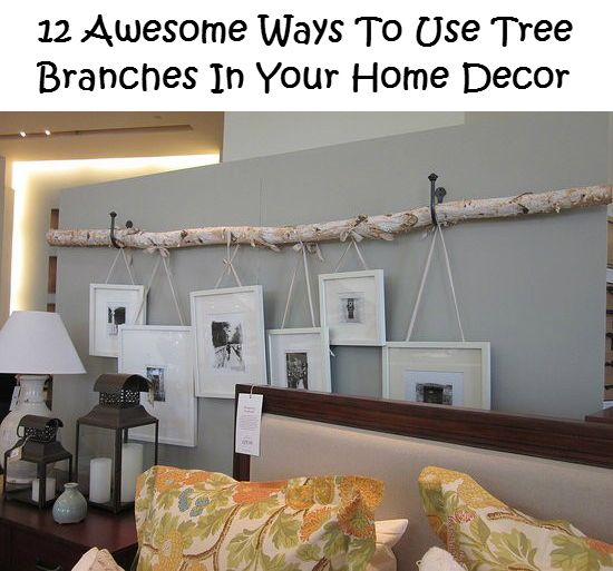 12 Awesome Ways To Use Tree Branches In Your Home Decor   DIY Ideas 4 Home