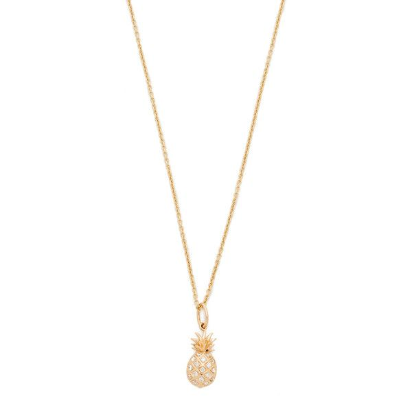 Retrouvai pineapple pendant necklace p6Cky6ydO