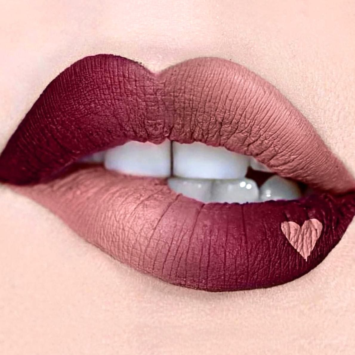 So Susan Cosmetics On Twitter A Beautiful Ombr Created With Our Liquid Matte Lipsticks In Shades Raisin Flesh Chocolate Berr In 2020 Lip Art Lip Art Makeup Lip Colors