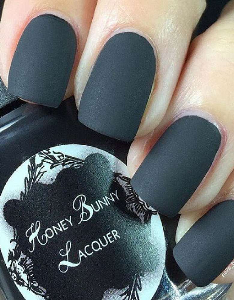 For Whom the Bell Tolls - matte nail polish - matte black - 5 free ...