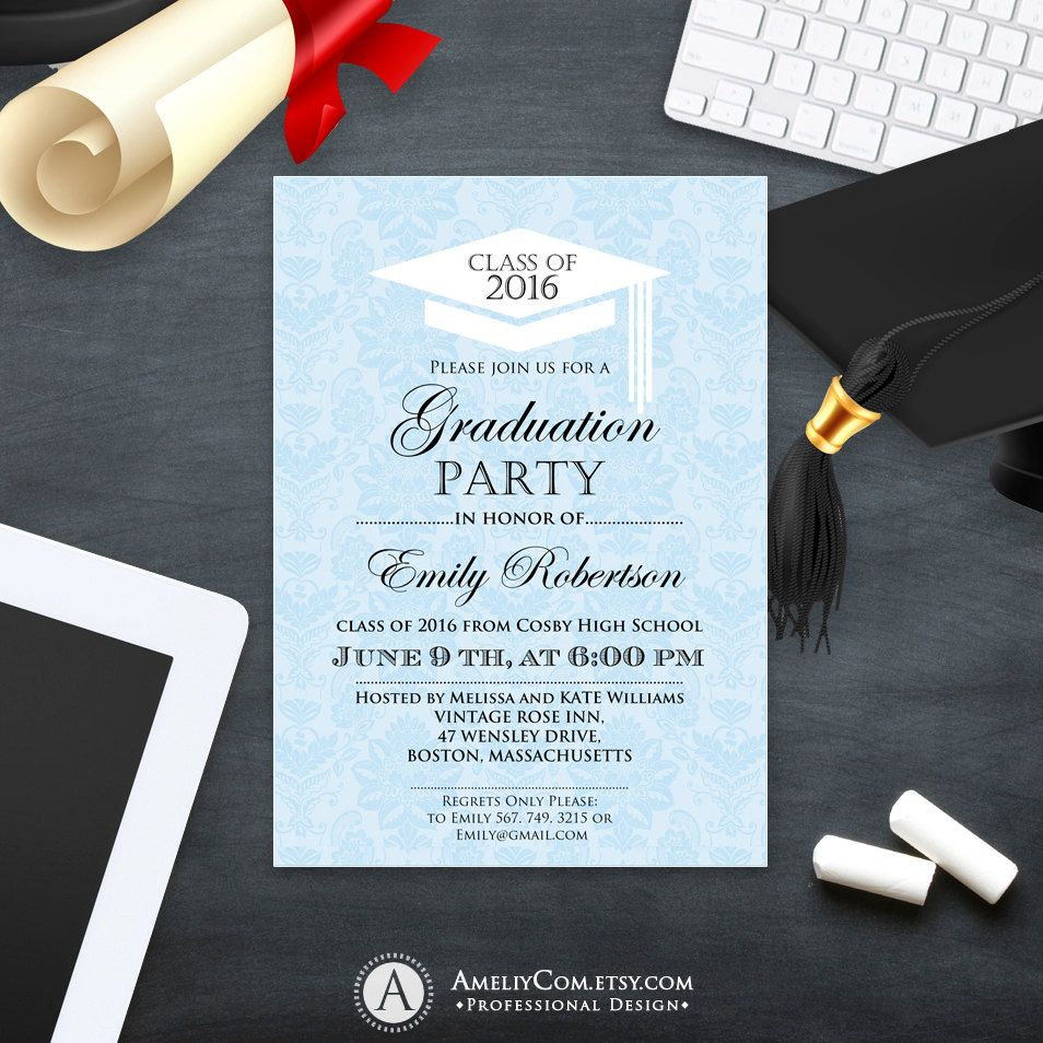 Printable Graduation Invitation template College Graduation Party ...