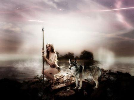 wolf art - spirit, mythical