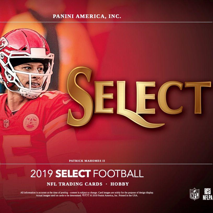 2019 Panini Select Football Checklist, NFL Set Info, Boxes