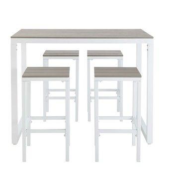 Mesa de jardín o terraza de madera, teca o aluminio ...