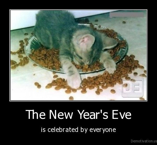 {*} January. Funny New Year's Eve Cartoons | New Year's Eve Caturday