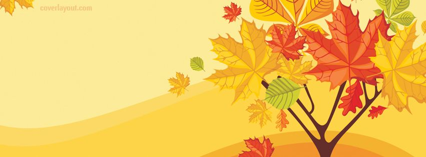 facebook cover Fall Autumn Tree with Falling Leafs CoverLayout.com ...