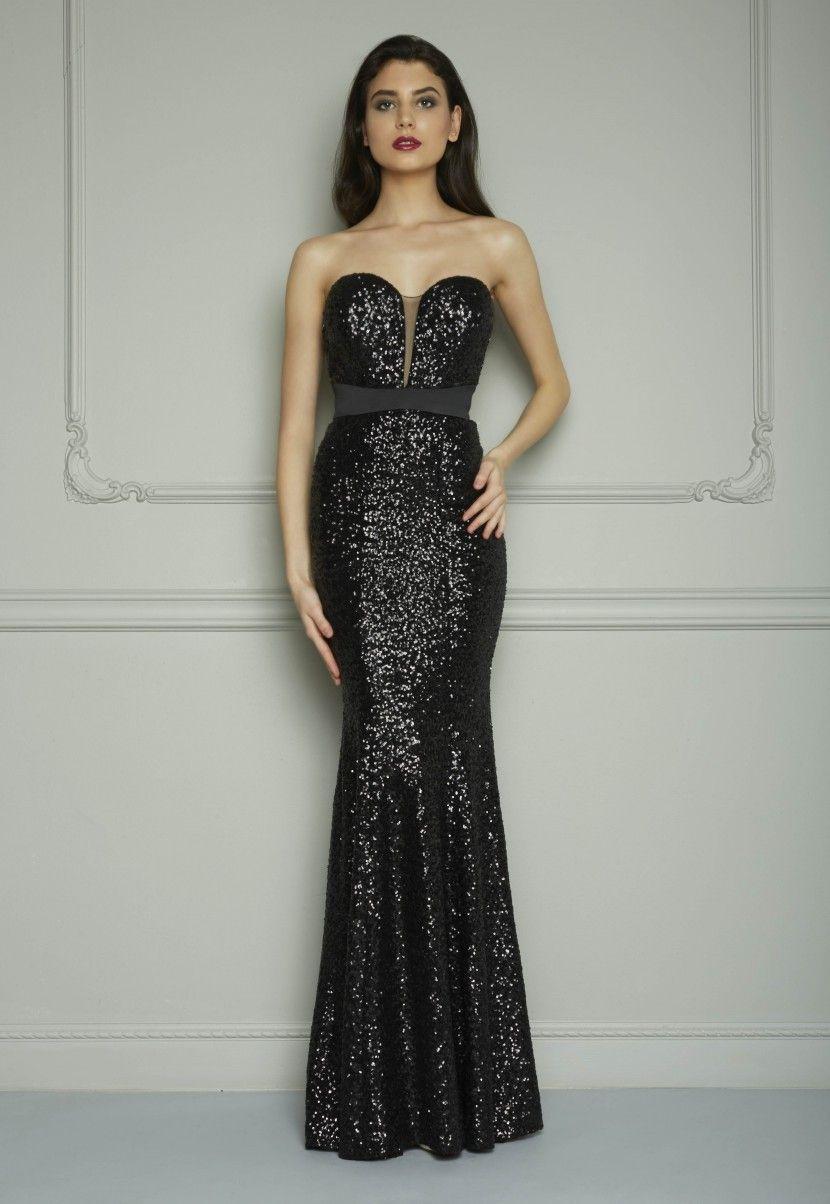 Aliexpress.com: Comprar Negro elegante de noche largo vestidos 2015 ...