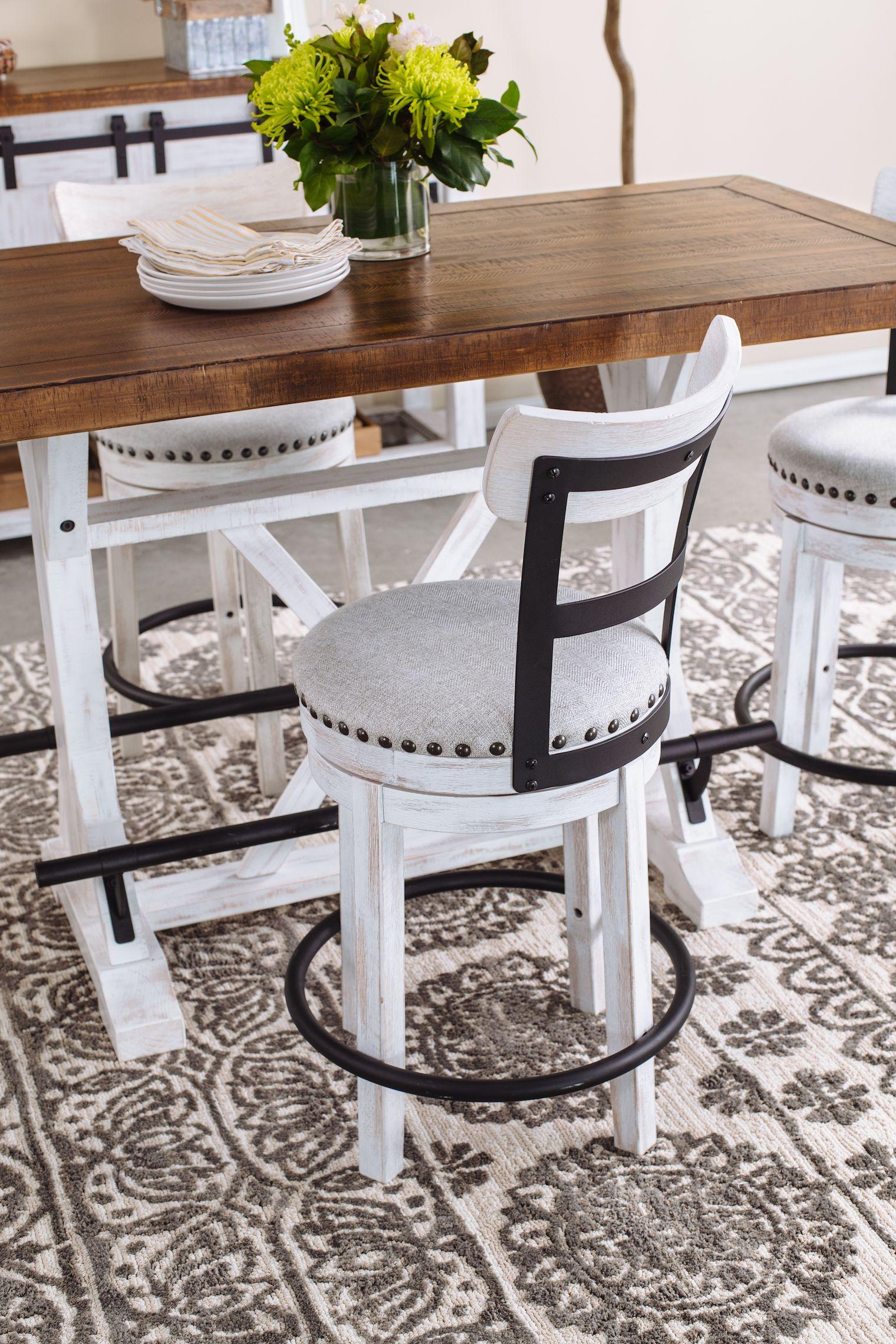 Industrial 42 swivel bar stool in whitelinen in 2020