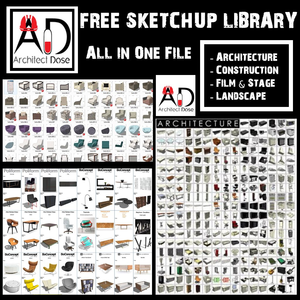 Free Sketchup Library Sketch Up Architecture Sketchup