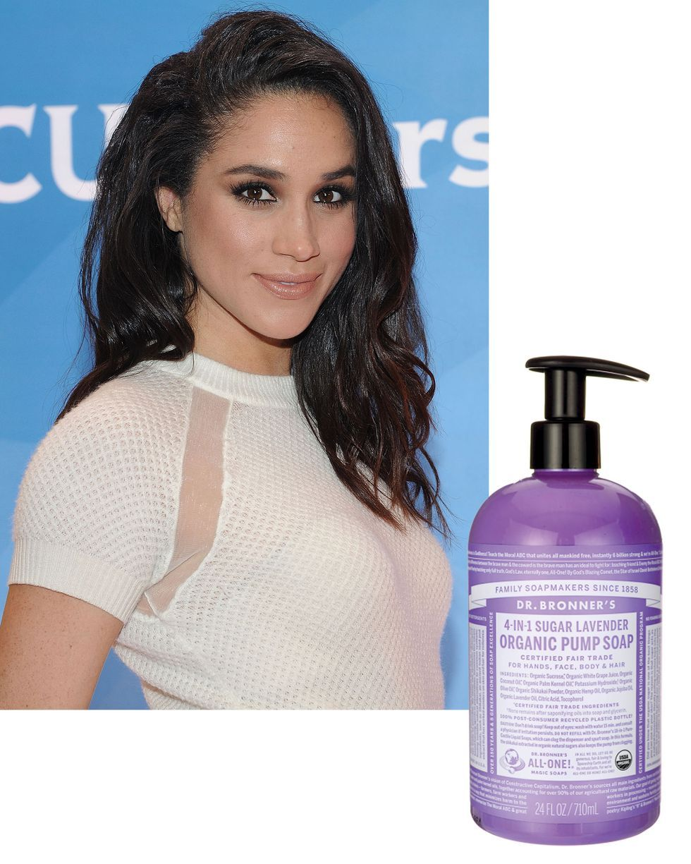 1b6310dedda Another Markle-approved product? Dr. Bronner's Body Wash in lavender scent.