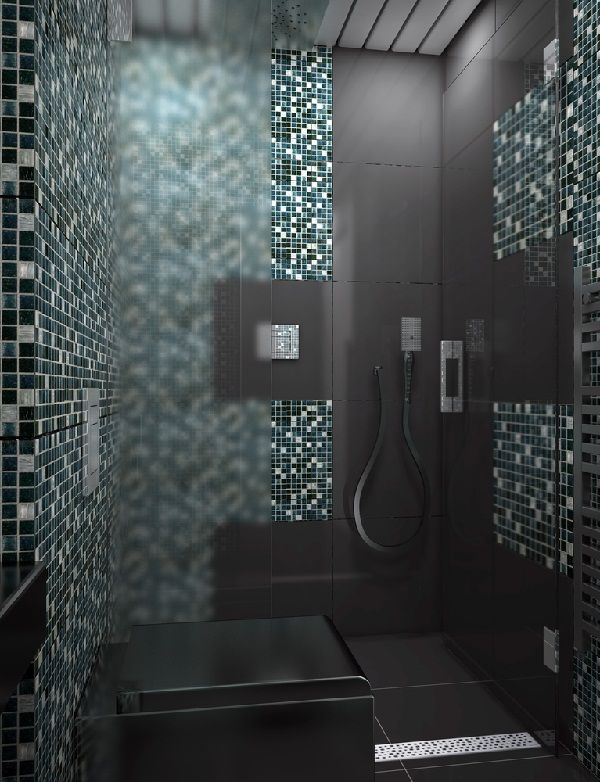 Badezimmer Großformatige Graue Fliesen Mosaiken Akzent | BAD | Pinterest |  Bedrooms And Interiors