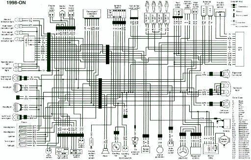 Wiring diagram 1998 GSXR750