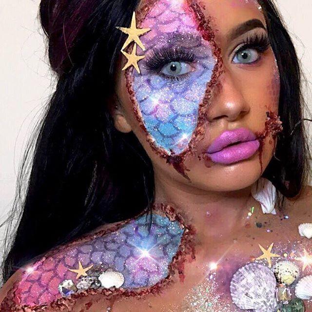 Ayyyvreytate Amazing Halloween Makeup Halloween Makeup Diy Mermaid Makeup