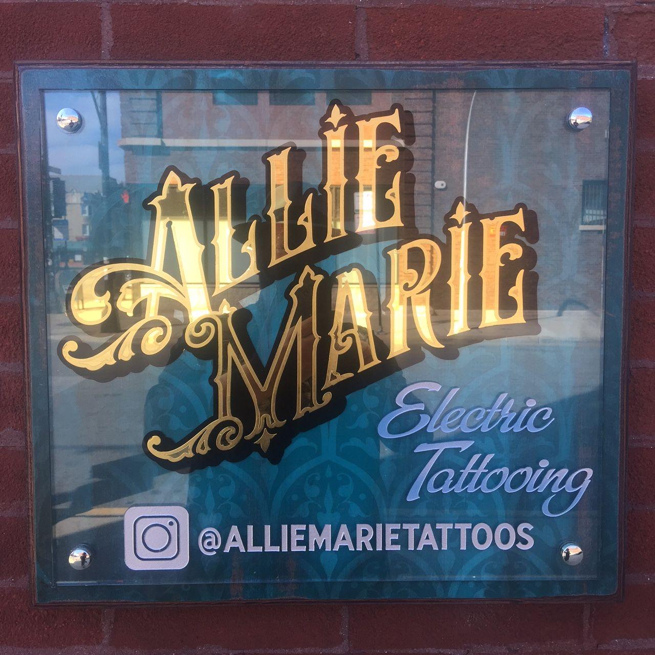 Allie marie chicago tattoo artist gold leaf signs