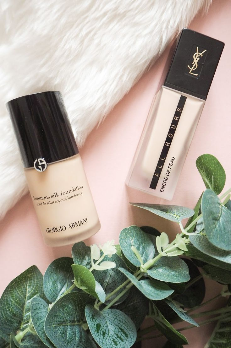 Armani Luminous Silk Versus YSL All Hours Foundation