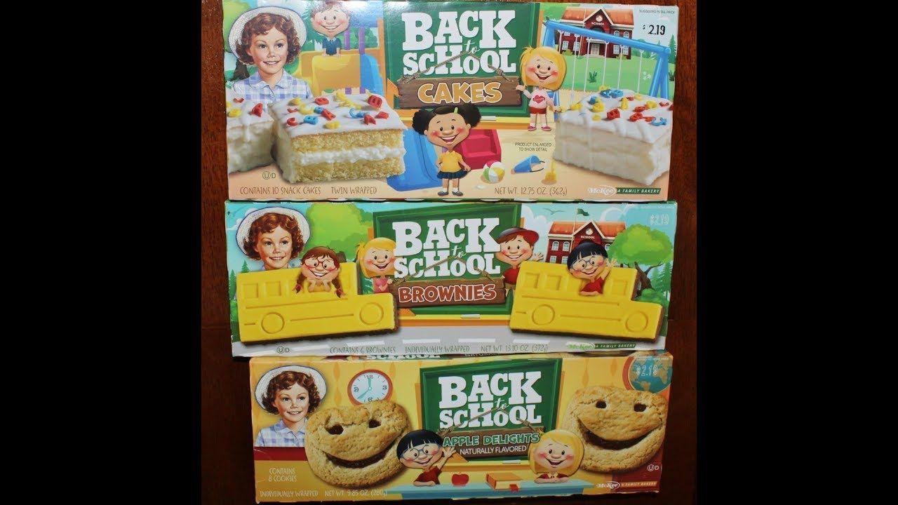 Little Debbie Back to School Cakes, Brownies & Apple