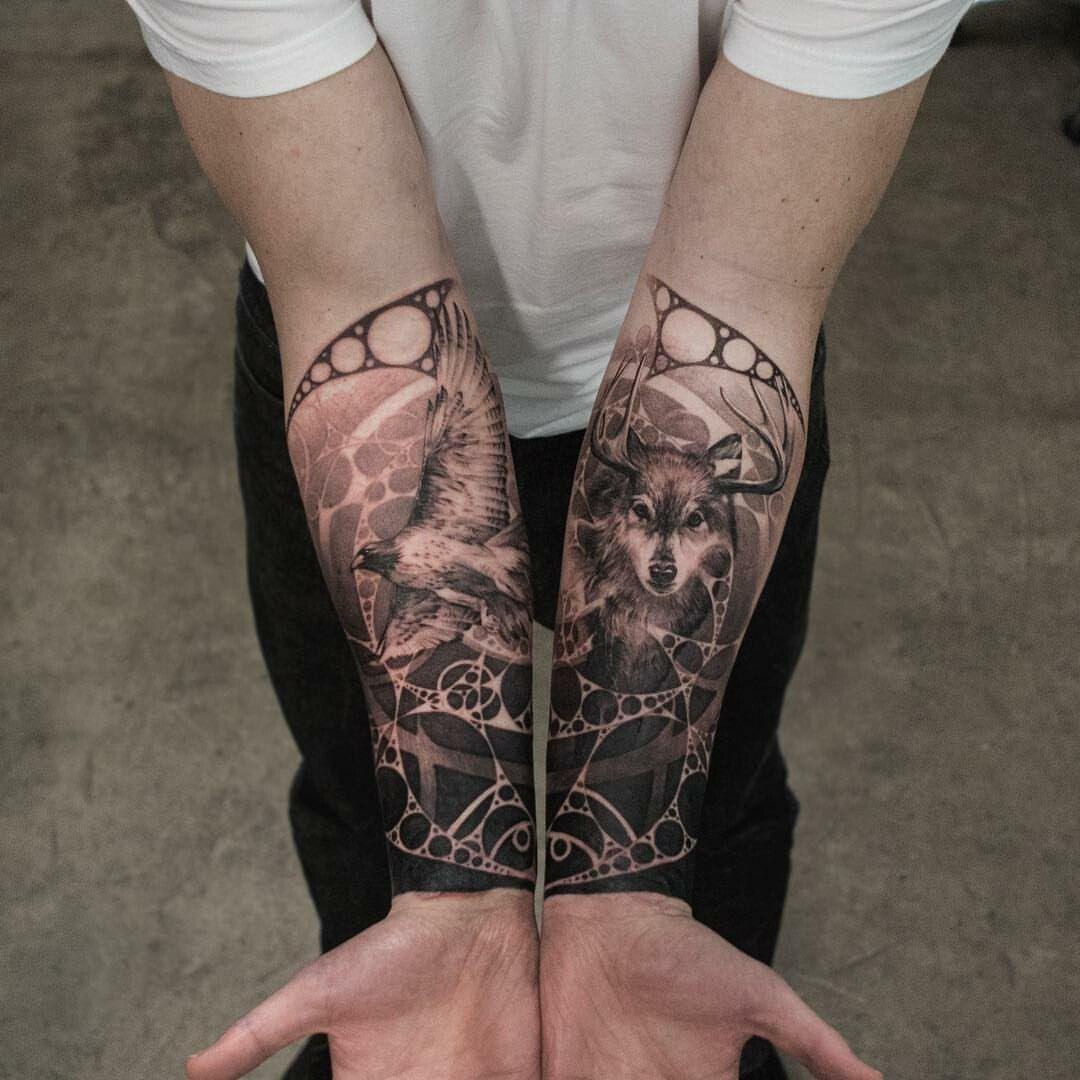 полный черно белые тату эскизы для девушек мужчин на руку