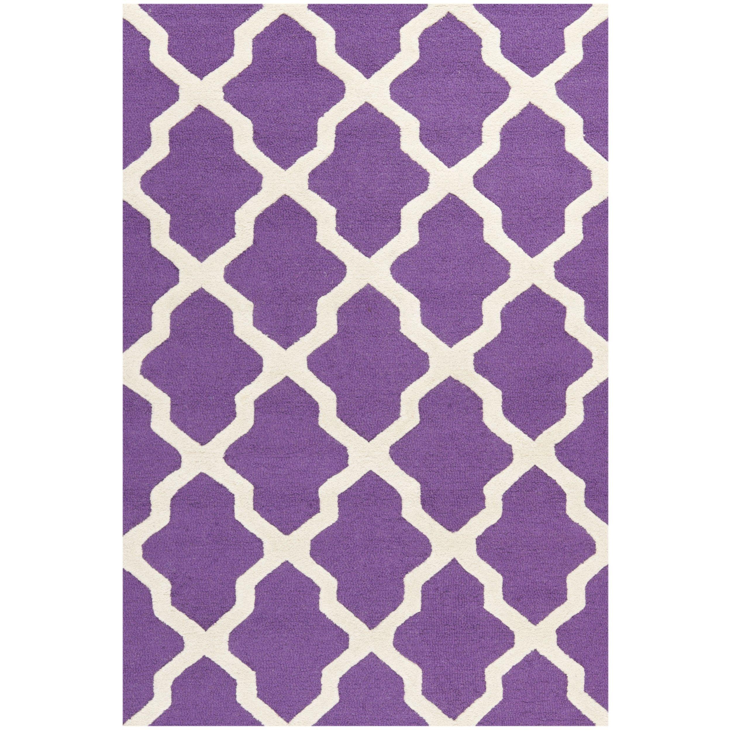 Artistic Stairs Canada: Safavieh Handmade Cambridge Moroccan Purple Wool Rug (9' X
