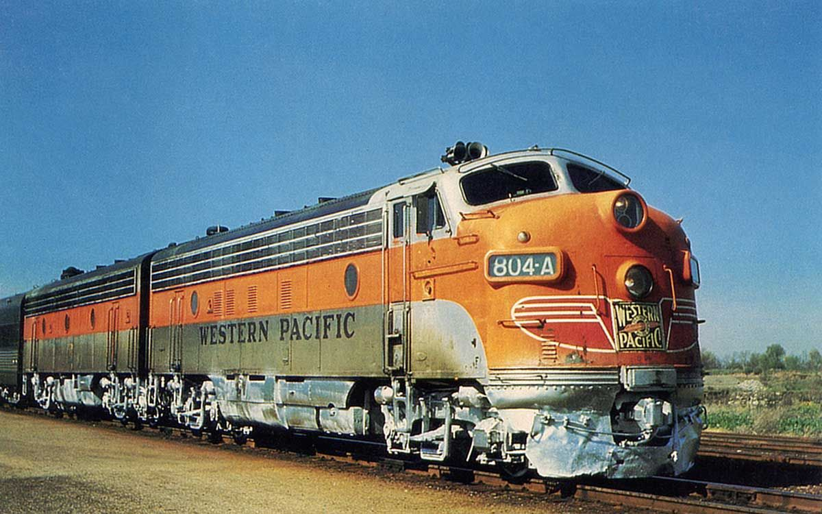 The Western Pacific Railroad 39 S 804 A Known As The California Zephyr It Was Operated By The
