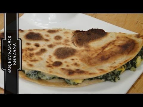 Spinach and corn quesadilla vegetarian video recipe by chef food spinach and corn quesadilla vegetarian video recipe by chef sanjeev kapoor forumfinder Images