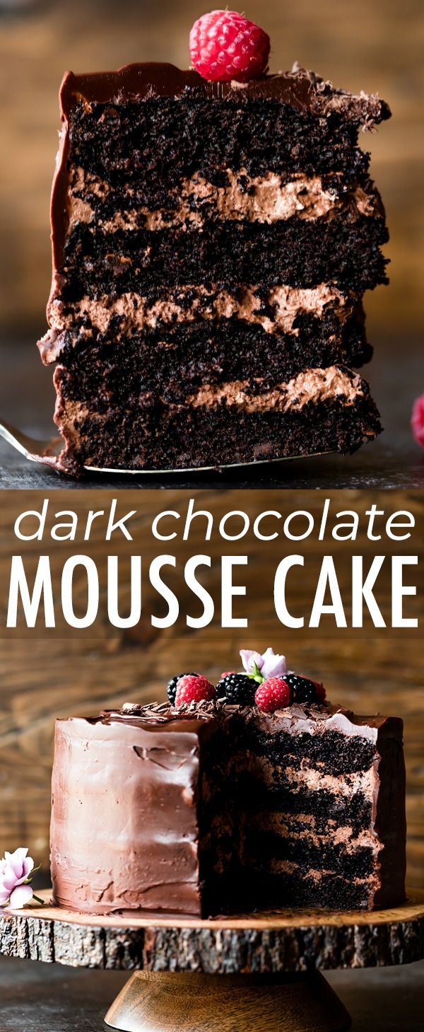 Dark Chocolate Mousse Cake   Sally's Baking Addiction