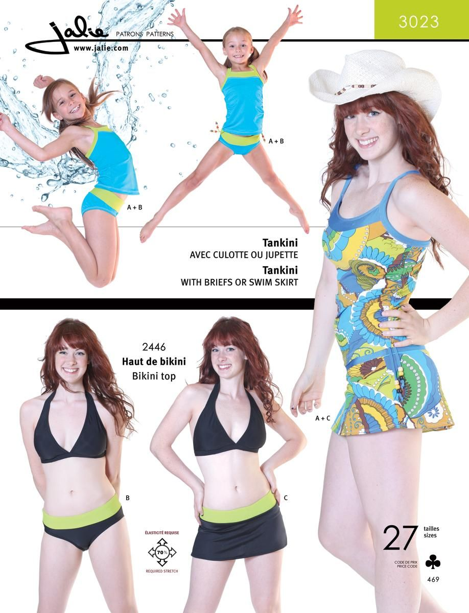 Tankini / Skirtini Sewing Pattern Cover | Big Girl Clothes | Pinterest