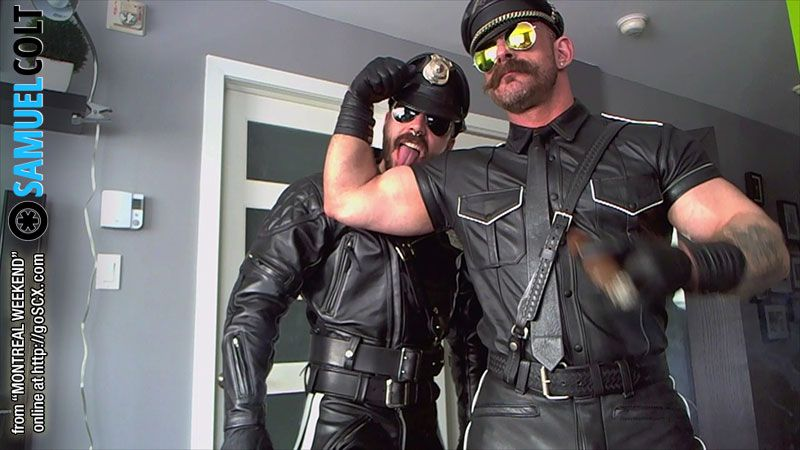 Leather gay video