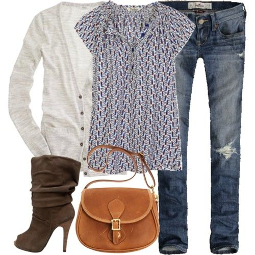 love the print on the shirt and the peep toe boots