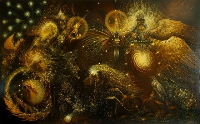 Peresvet, Oslyabya, Divine Gloom by Paintings by Oleg Korolev (Олег Королёв) (Paintings by Oleg Korolev (Олег Королёв))