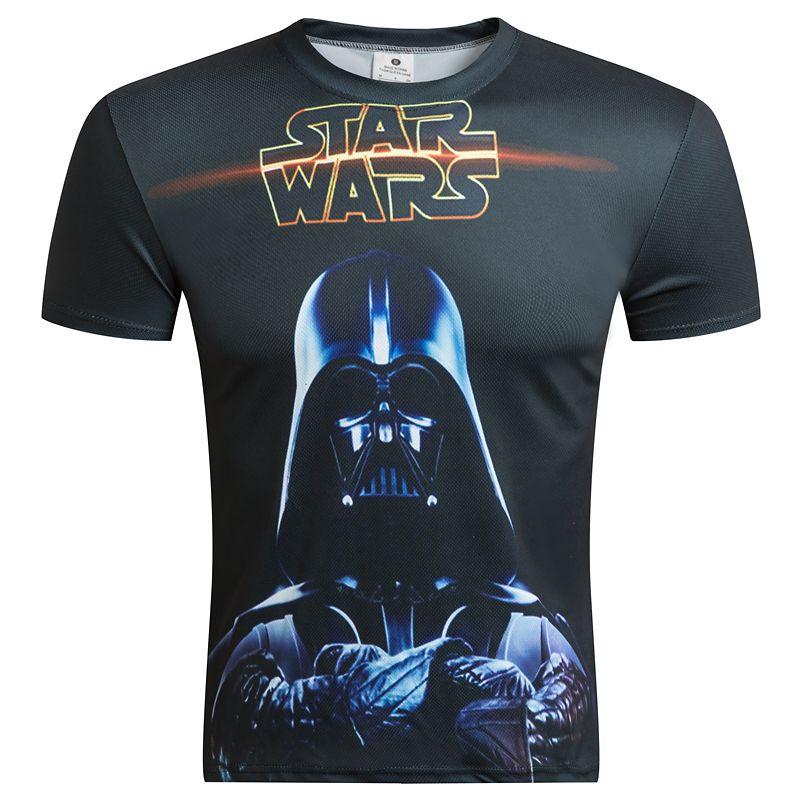 53b9e422 2016 New Short Sleeve Male Tees Summer Camisetas Fashion Brand clothing  Star Wars/Deadpool/
