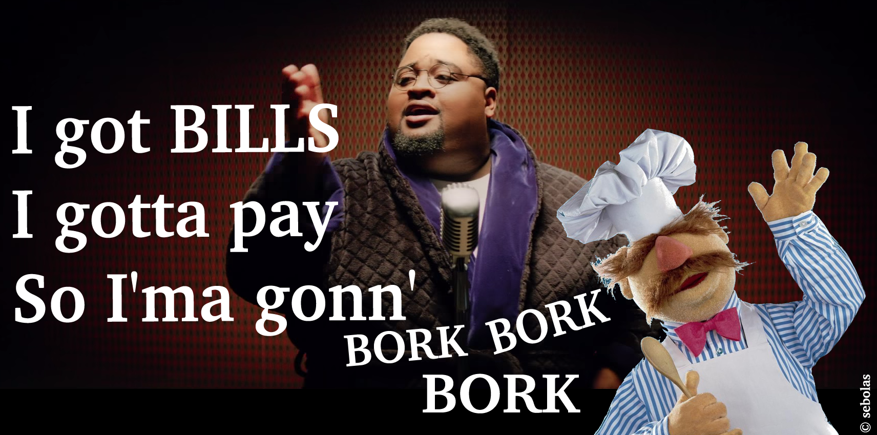 LunchMoney Lewis Bills and Swedish Chef. This is all I hear.
