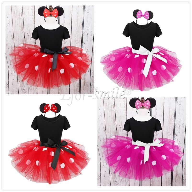 Baby Toddler Girl Minnie Mouse Costume Party Outfit Kids Ballet ...