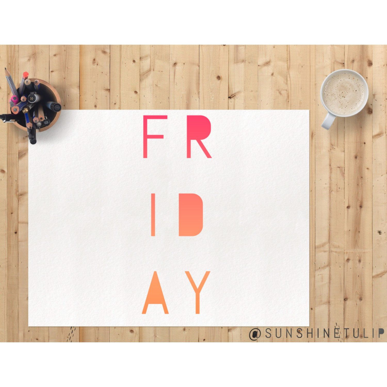 Friday to do list ... Play & create! And maybe have a donut  HaPpY FrIdAy