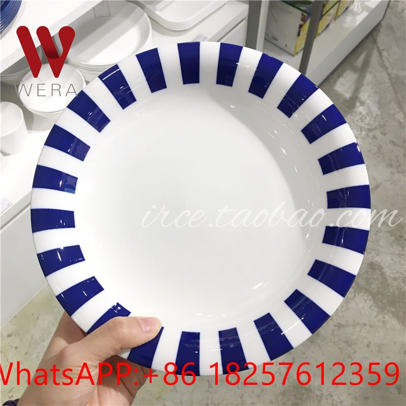 2 color plate design sample made in ceramic, but design can be