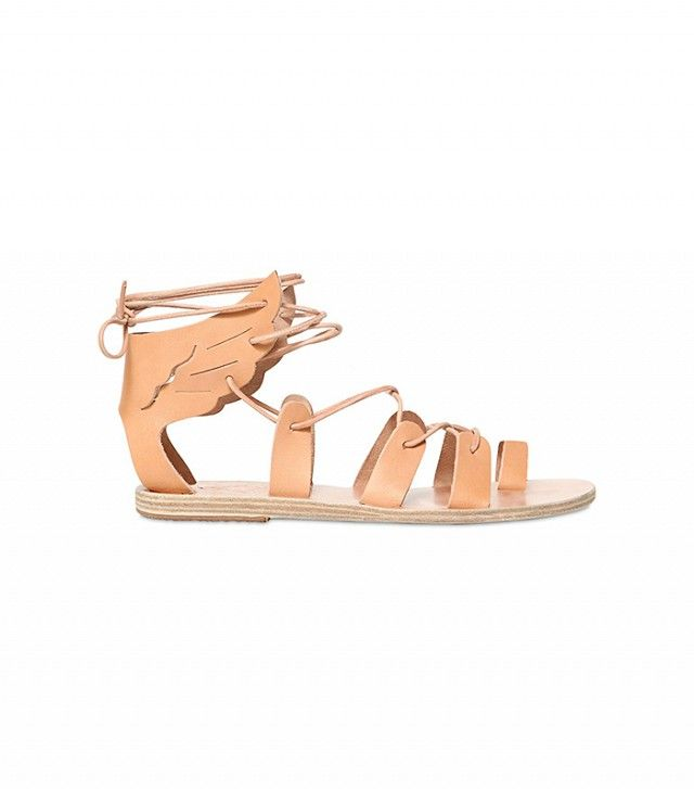 #TuesdayShoesday:+Shop+Our+Favorite+Flat+Lace-Up+Sandals+via+@WhoWhatWear