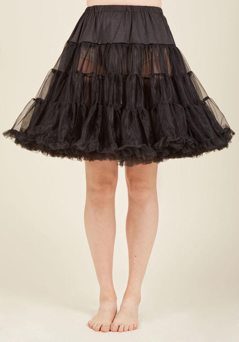 75f90e1422 Voluminous Tulle Petticoat in Black - Short in XXS/XS | Products ...