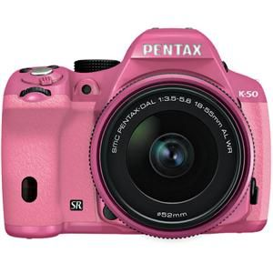 Pentax K-50 Digital SLR Camera with 18-55mm f/3.5-5.6 Lens... (But all I really care about is IT'S PINK!!!!)