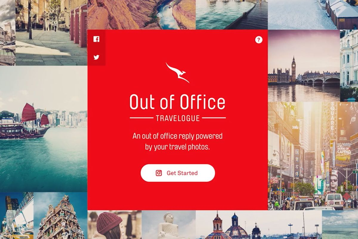 Qantas out of office travelogue creativity online student